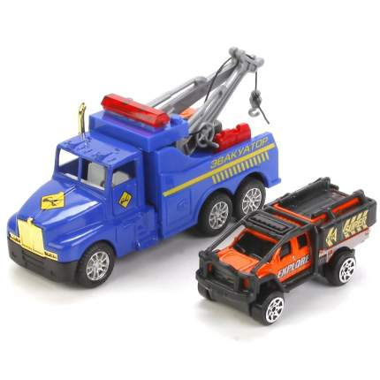 Автотягач-эвакуатор с машиной Технопарк