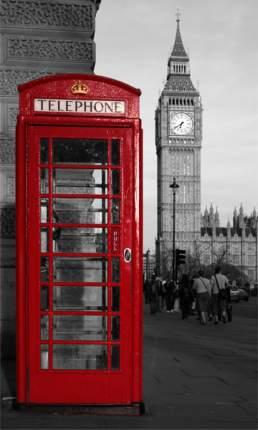 Картина на холсте 30x50 Телефон Лондон Ekoramka HE-101-485