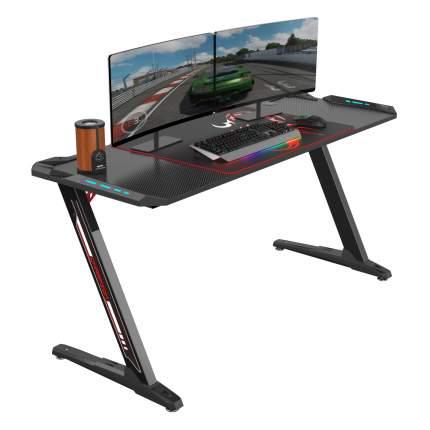 Стол для компьютера (для геймеров) Eureka Z60 c RGB подсветкой, чёрный