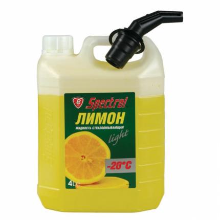 Жидкость омывателя незамерзающая -20C SPECTROL Лимон готовая 4 л 9646