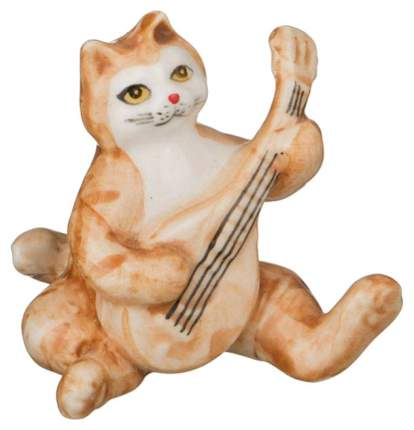Статуэтка Lefard Кошка 101-483 Белый, оранжевый