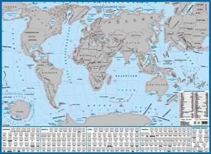 Карта мира с флагами СО СТИРАЕМЫМ СЛОЕМ.