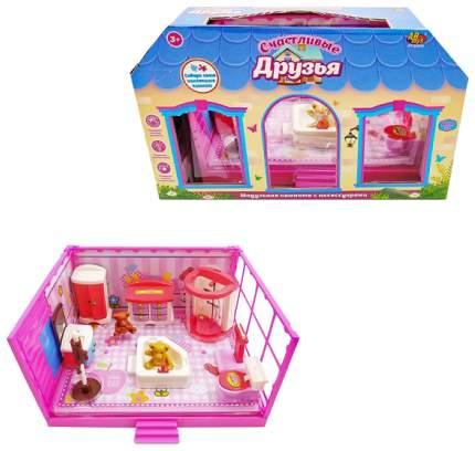 """Игровой набор Abtoys """"Счастливые друзья: Ванная комната"""" 11 пред."""