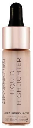 Хайлайтер Makeup Revolution Liquid Highlighter Luminous Gold 18 мл