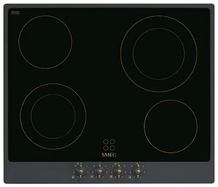 Встраиваемая варочная панель электрическая Smeg P864AO Black