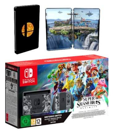 Портативная игровая консоль Nintendo Switch + Super smash bros. ultimate edition