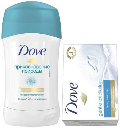 Дезодорант Dove Прикосновение природы 40 мл + Мыло Нежное отшелушивание 100 г