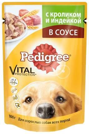 Влажный корм для собак Pedigree, кролик, индейка, 24шт, 100г