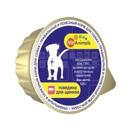 Консервы для щенков VitAnimals, говядина, 125г