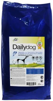 Сухой корм для собак Dailydog Adult Medium-Large Breed, рыба и картофель, 20кг