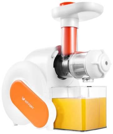 Соковыжималка шнековая Kitfort КТ-1110-2 white/orange