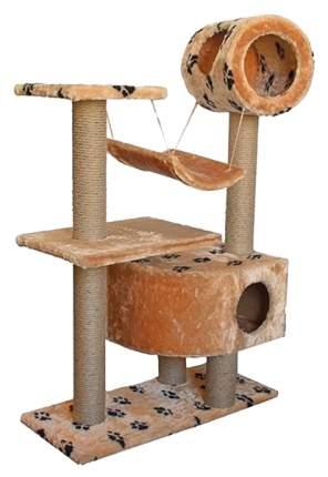 Комплекс для кошек Дарэлл Лазалка с двумя домиками и качелями 96 х 36 х 126 см
