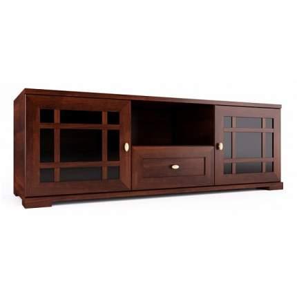 Тумба под телевизор приставная Глазов мебель Шерлок 3 120x40x42 см, орех шоколадный