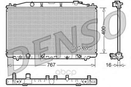 Радиатор охлажденияhonda accord 2.4 акпп 08 Denso DRM40025