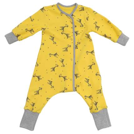 Пижама на кнопках Bambinizon Жирафы р.98