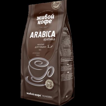 Кофе молотый Живой Кофе арабика 100  г