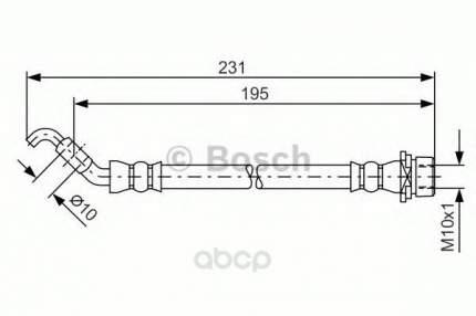 Шланг тормозной системы Bosch 1987481562
