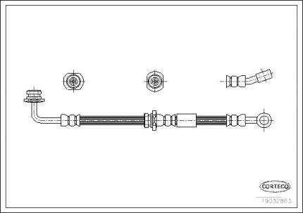 Шланг тормозной CORTECO 19032863