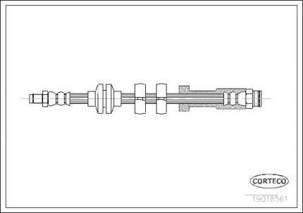 Шланг тормозной CORTECO 19018561