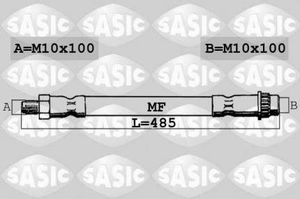 Шланг тормозной SASIC 6600065