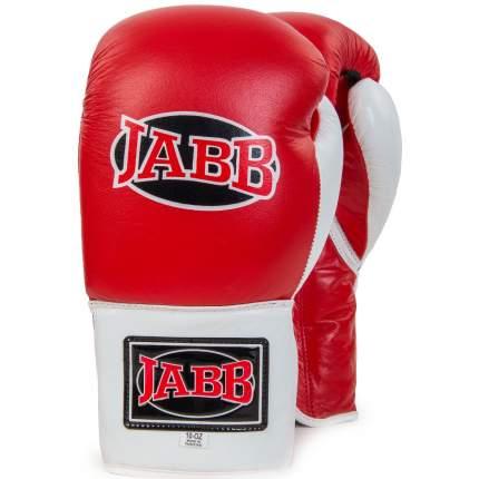 Боксерские перчатки Jabb JE-2000 белые/красные 10 унций