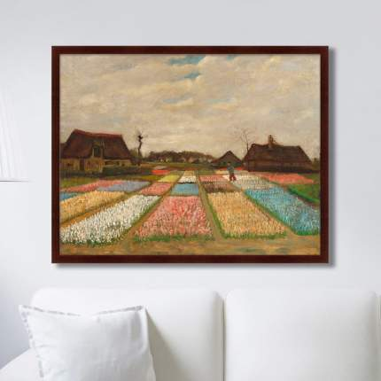 Картина Flower beds in Holland, 1883г,, 78,5х100см, Картины в Квартиру