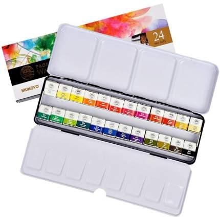 Акварель Mungyo Gallery в кюветах металлическая коробка 24 цвета