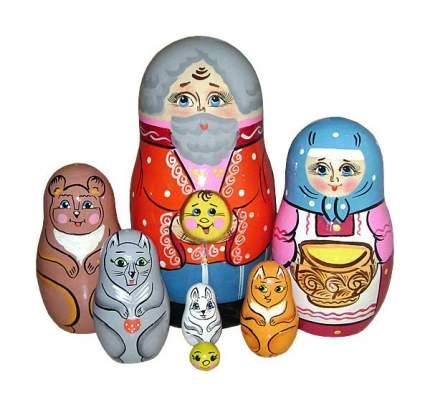 Деревянная игрушка Бэмби Матрешка Колобок