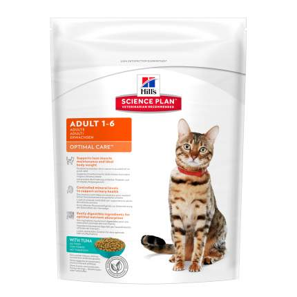 Сухой корм для кошек Hill's Science Plan Optimal Care, тунец, 0,4кг
