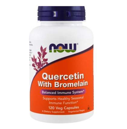 NOW Quercetin with Bromelain 120 капсул