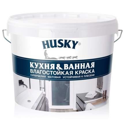 Краска HUSKY для кухонь и ванных комнат 9л