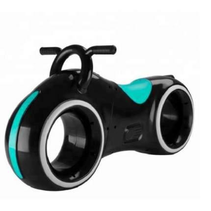 Беговел Трон, встроенные колонки, Bluetooth, подсветка LED (черный с синим)