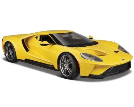 Машинка Maisto 1:18 Ford GT 2017 года, желтая
