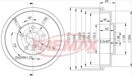 Тормозной барабан FREMAX BD-4703