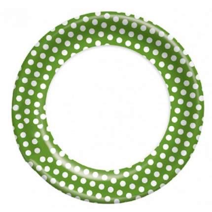 Тарелка картонная Bulgaree Green зеленый горох d-23 см 10 шт