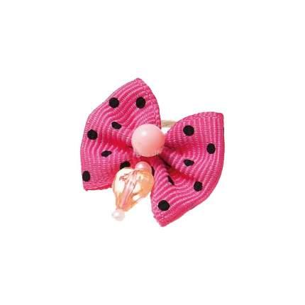 Заколка для домашнего питомца Pet Line Бантик, розовый с серебристой полоской