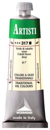 Масляная краска Maimeri Artisti кобальт зеленый темный 40 мл
