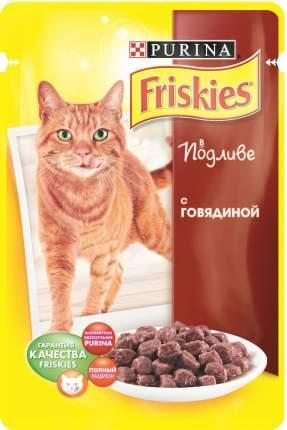 Влажный корм для кошек Friskies, с говядиной в подливе, 100г