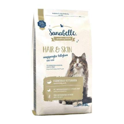 Сухой корм для кошек Sanabelle Hair & Skin, домашняя птица, 10кг