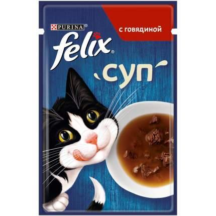 Влажный корм для кошек Felix Суп, говядина, 30шт, 48г