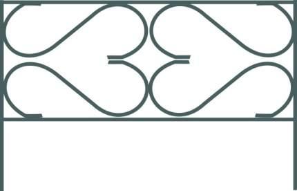"Заборчик декоративный ""Дачный"" (5 секций) металл.Ширина секции: 65 см.Высота секции: 37 см"