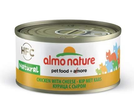 Консервы для кошек Almo Nature HFC Natural, курица, сыр, 24шт, 70г