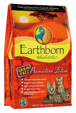 Сухой корм для кошек и котят Earthborn Holistic Primitive Feline, беззерновой,курица,2,7кг
