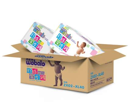 Подгузники-трусики Wobalo+XL 13-17кг 40 шт 2 упаковки