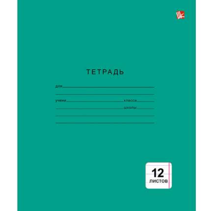 "Тетрадь ""Зеленая"" (А5, 12л, скрепка, линия), ТЛ124999"