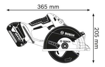 Аккумуляторная циркулярная пила Bosch GKM 18 V-LI 06016A4001 БЕЗ АККУМУЛЯТОРА И З/У