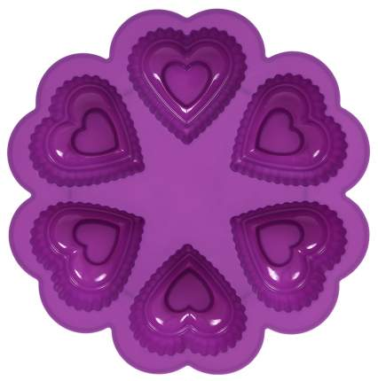 Форма для выпечки Marmiton Сердце 16027 6 ячеек