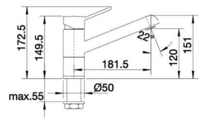 Смеситель для кухонной мойки Blanco ZENOS 517804 нержавеющая сталь