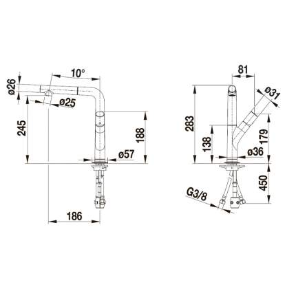 Смеситель для кухонной мойки Blanco YOVIS-S 518294 серый шелк