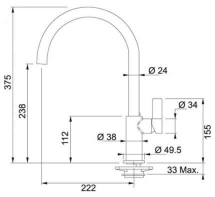 Смеситель для кухонной мойки Franke Ambient 115.0296.771 ваниль